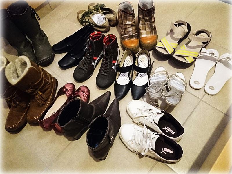 靴の捨てるを実践