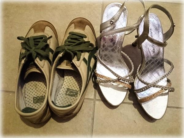 捨てるを決めた靴