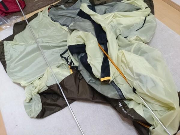 スノーピーク SDE-001 アメニティドームのテント設置前